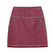 Jacquard rok, rood-patroon 40/42