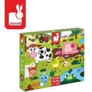 Puzzle tactil - Janod - Animale de la ferma