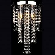 vidaXL Biela kovová stropná lampa s krištáľovými korálikmi