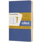 Moleskine Quaderno Volant Journal pocket a righe blu-giallo. Forg...