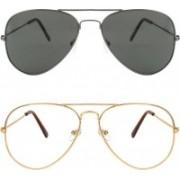 Ivonne Butterfly Sunglasses(Clear, Black)