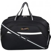 FLAGY (Expandable) Stylish Quality fabric Waterproof (Expandable ) Lightweight 40 litres 22 Inch Travel Duffel Bag/Cabin Luggage Travel Duffel Bag(Black)