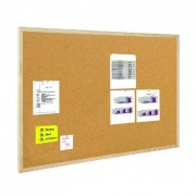 BI-OFFICE Tablica korkowa BI-OFFICE 90x120cm w ramie drewnianej