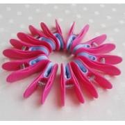 Normál csipesz 10 db pink Vixi