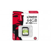 Memóriakártya, SDXC, 64GB, CL10/U1, 80/10 MB/s, KINGSTON Canvas Select (MKS64GCS)
