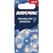 Baterii proteze auditive Rayovac Acoustic HA675, 6 buc.