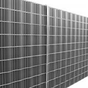 Фолио за ограда [neu.haus] ®, предпазва от любопитни погледи, вятър или звукове, 19 cm x 35 m / 7m², Сиво, с UV защита