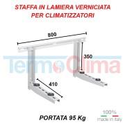 Staffa Supporto Per Climatizzatori Condizionatori Da 7000 A 12000 Btu 450x380x800 Mm 80kg