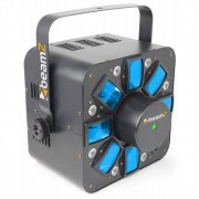 Beamz Multi Acis III Efecto de luces LED Estroboscopio Láser RGBAW Soporte (Sky-153.670)