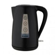 Електрическа кана Singer SWK 800 DOTS, вместимост 1.7 литра, 2200W, въртяща се основа на 360°, светлинен индикатор, черна