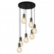 [lux.pro]® Lámpara colgante con estilo - metal / negro-plata (7xE27)