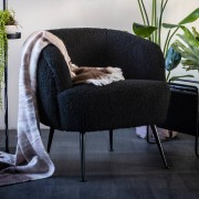 By-Boo Moderne fauteuil zwart By-Boo Babe