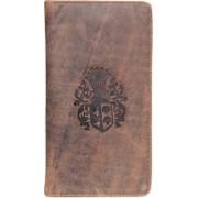 Kan New Year Gift-Brown Hunter Leather Passbook Holder/Passport Holder/Card Case for Men & Women(Brown)