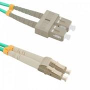 Qoltec Optic Patchcord LC/UPC - SC/UPC - Multimode - 50/125 - OM4 - Duplex - 10m
