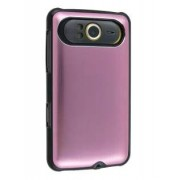 Brushed Aluminium Case for HTC HD7 - HTC Hard Case (Baby Pink)
