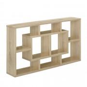 [en.casa]® Design zidna polica - 85 x 47,5 x 16 cm boja drveta