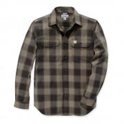 Carhartt 104144 Hubbard Flannel Shirt - Slim Fit - Burnt Olive - XL