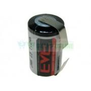 Bateria ER14250 1.2Ah 3.6V 1/2AA 14.5x25.2mm z blaszkami do lutowania