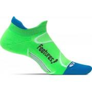 Feetures - Elite Light Cushion No Show Tab - Hardloopsokken - Sportsokken - Groen/Blauw - XL