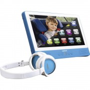 "Lenco TDV-900 blue Prijenosni DVD player 22.86 cm 9 "" Rad na baterije, Uklj. 12V auto kabel za napajanje, S integriranim DVD pla"