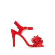 La Redoute Collections Sandálias vermelhas com presilha, às floresVermelho- 37