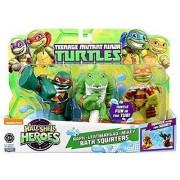Teenage Mutant Ninja Turtles Pre-Cool Half Shell Heroes Michelangelo Leatherhead And Raphael Bathtub Squirter Figure (P