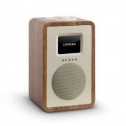 """Numan Mini One radio numérique design TFT 2,4"""" Bluetooth DAB+ FM AUX Line-Out Noyer"""