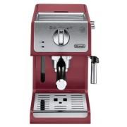 Espressor cu pompa DeLonghi Active Line ECP33.21.R, 1100 W, 15 bari, 1.1 l, Sistem Cappuccino (Rosu/Inox)