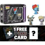 Discord Rainbow Dash Derpy Tin Boxset: Pocket POP! x My Little Pony Vinyl Figure + 1 FREE Official My Little Pony Trading Card Bundle [48006]