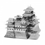 DIY Jigsaw Puzzle? 3D Stainless Steel Metal Famous Japanese Building Himeji Castle Assembly Model Educational Toy - Silver