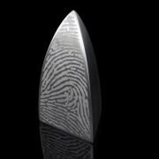 Pewter urn in edelstaal 25x25cm + vingerafdruk (3000ml)