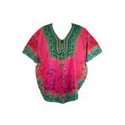 Ata Rose letní plážové šaty tmavě růžová