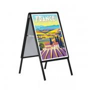 Edimeta Chevalet de trottoir Cadro-Clic® B1 / 100 x 70 cm - NOIR