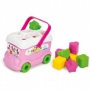 Cuburi constructii moi pentru copii Clemmy - Autobuzul lui Minnie Mouse