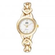 Ceas dama Q&Q Glamour Gold, catarama tip bijuterie