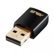 Мрежови адаптер Asus USB-AC51, 600Mbps, Wireless-AC/A/B/G/N, USB, ултра-компактен