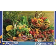 Fresh Fruits And Vegetables Puzzlebug 500 Pc Jigsaw Puzzle New