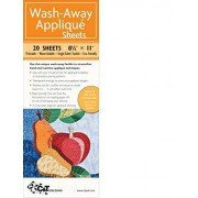 Ferrier, Beth Wash-Away Applique Sheets: Printable; Water Soluble; Single Sided; Fusible; Eco-friendly