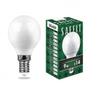 Лампа светодиодная Saffit SBG4509 G45 9W E14 2700K 55080
