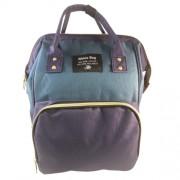 Baba - mama pamutvászon táska kék és zöld színben