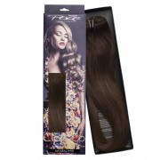 Poze Standard Löshår Clip & Go Miss Volume - 220g Chocolate Brown 4B - 55cm