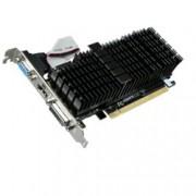 Видео карта GF GT 710, 1GB, Gigabyte GV-N710SL-1GL, PCI-E 2.0, GDDR3, 64 bit, HDMI, DVI