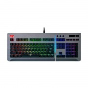 Tastatura Gaming Mecanica Thermaltake Tt eSPORTS Level 20 RGB Titanium Cherry MX Speed Silver