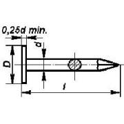 hřebík 40/2.5 ZINEK velká hlava lepenkový DIN EN 10230 ČSN 2813.25