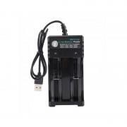 Incarcator dublu USB pt acumulator , baterie reincarcabila 4.2V 1000mA
