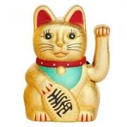 geschenkidee.ch Japanische Winkekatze 15cm gold matt