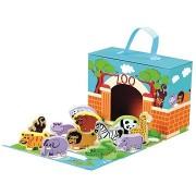 Utazó bőrönd állatokkal - Állatkert