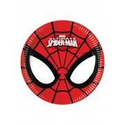 Vegaoo 8 små tallrikar från Ultimate Spiderman One-size