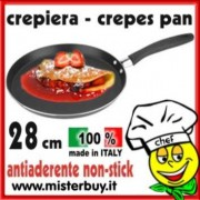 CREPIERA 28 cm ANTIADERENTE made in Italy
