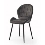 items-france BALTIMORE - Lot de 4 chaises tissu 63x51x91/51cm